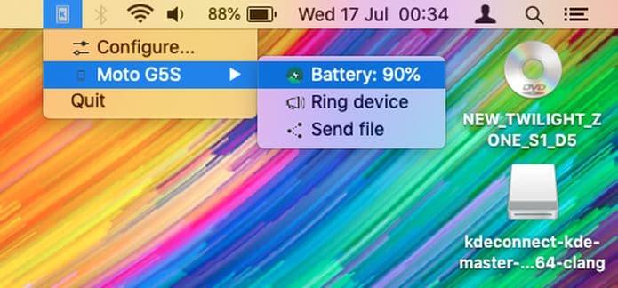 KDE Connect para Mac
