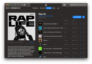 "Playlist ""Rap life"" no Apple Music"