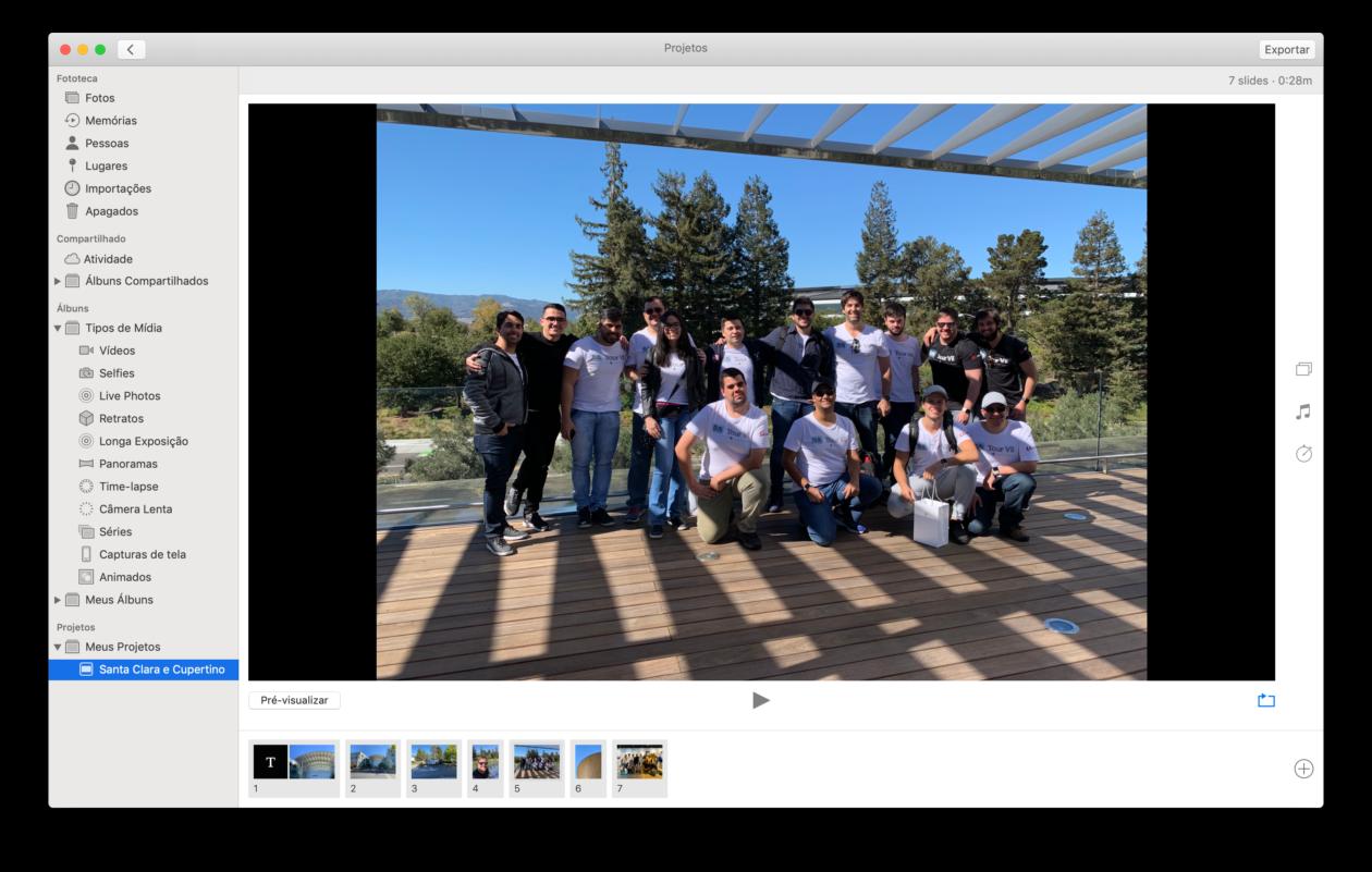 Criando slideshow de fotos no Mac