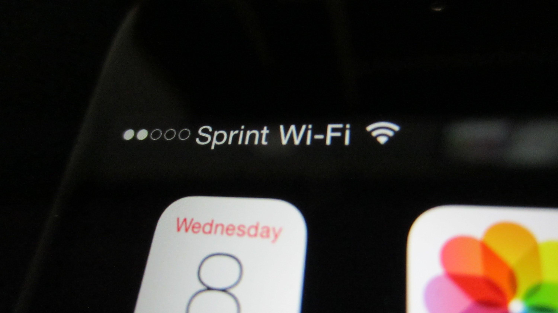 iPhone conectado ao Wi-Fi