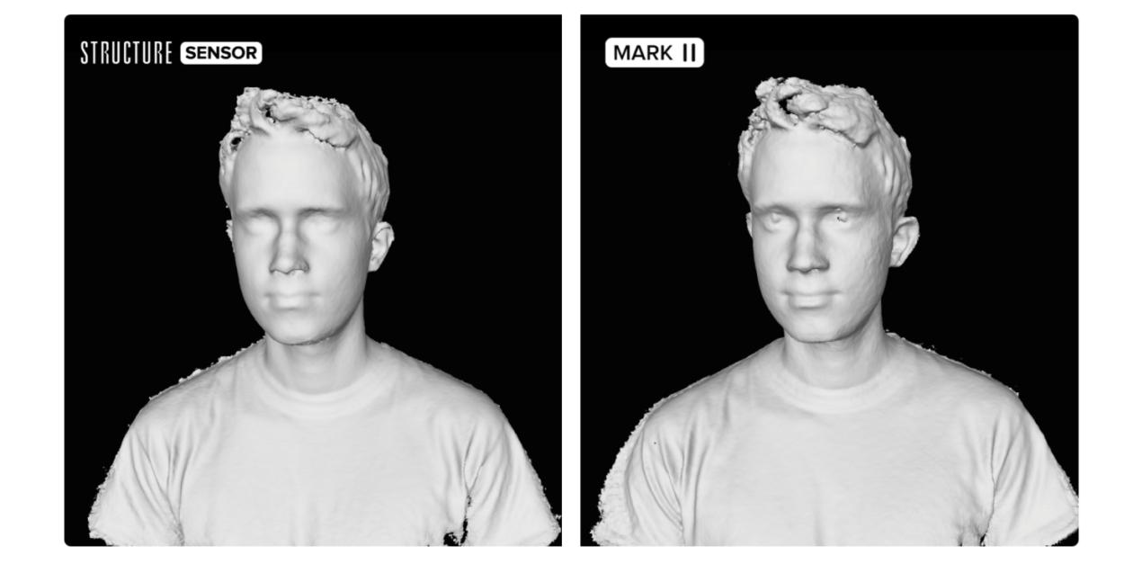 Resolução do Structure Sensor Mark II, da Occipital