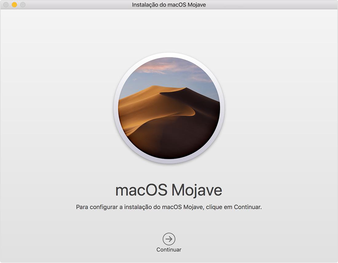 Instalador do macOS Mojave