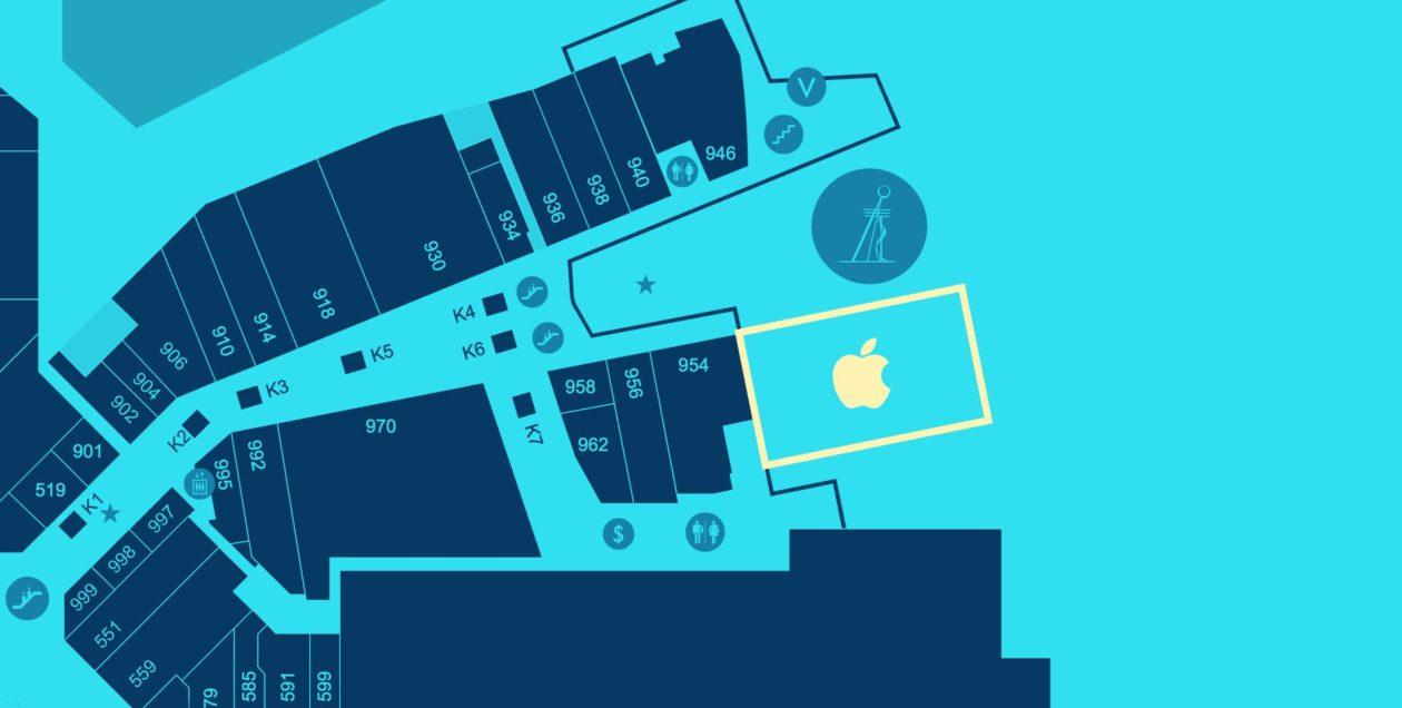 Localização da Apple Aventura