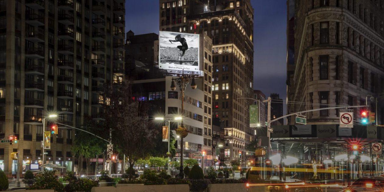 """Outdoors da campanha """"Filmado com iPhone"""""""