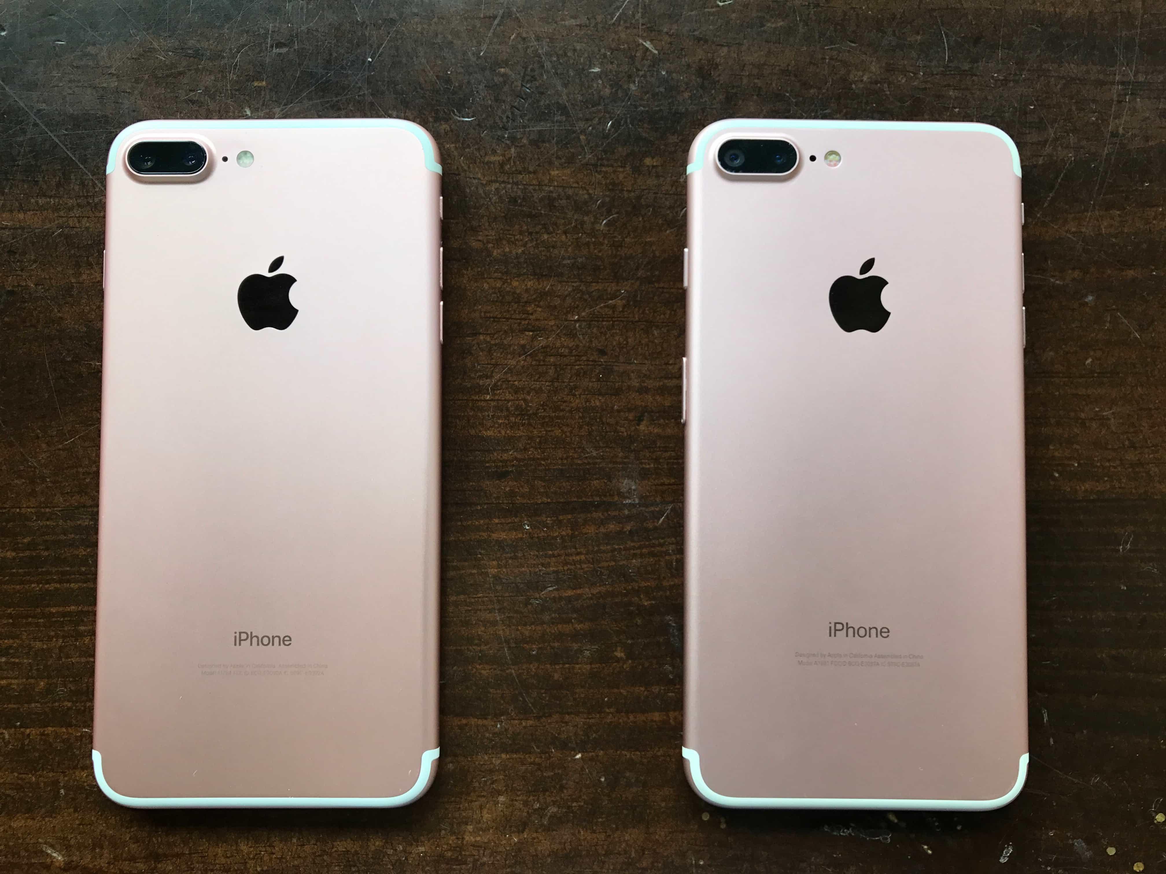 iPhone 7 Plus original e falsificado