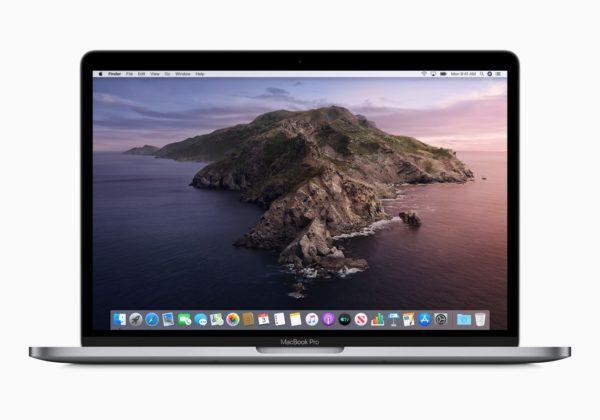 MacBook Pro de 13 polegadas rodando o macOS Catalina