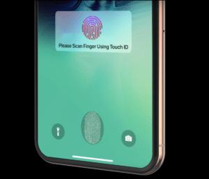 Touch ID na tela