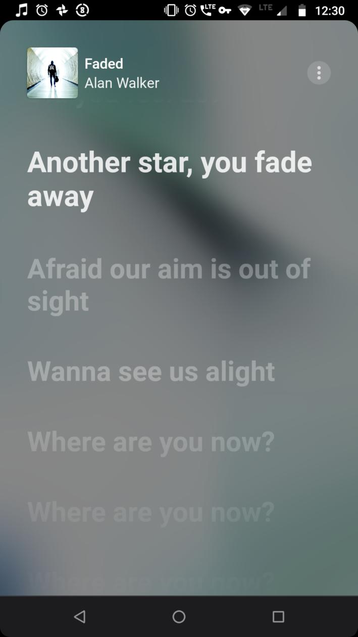Letras sincronizadas no Apple Music para Android