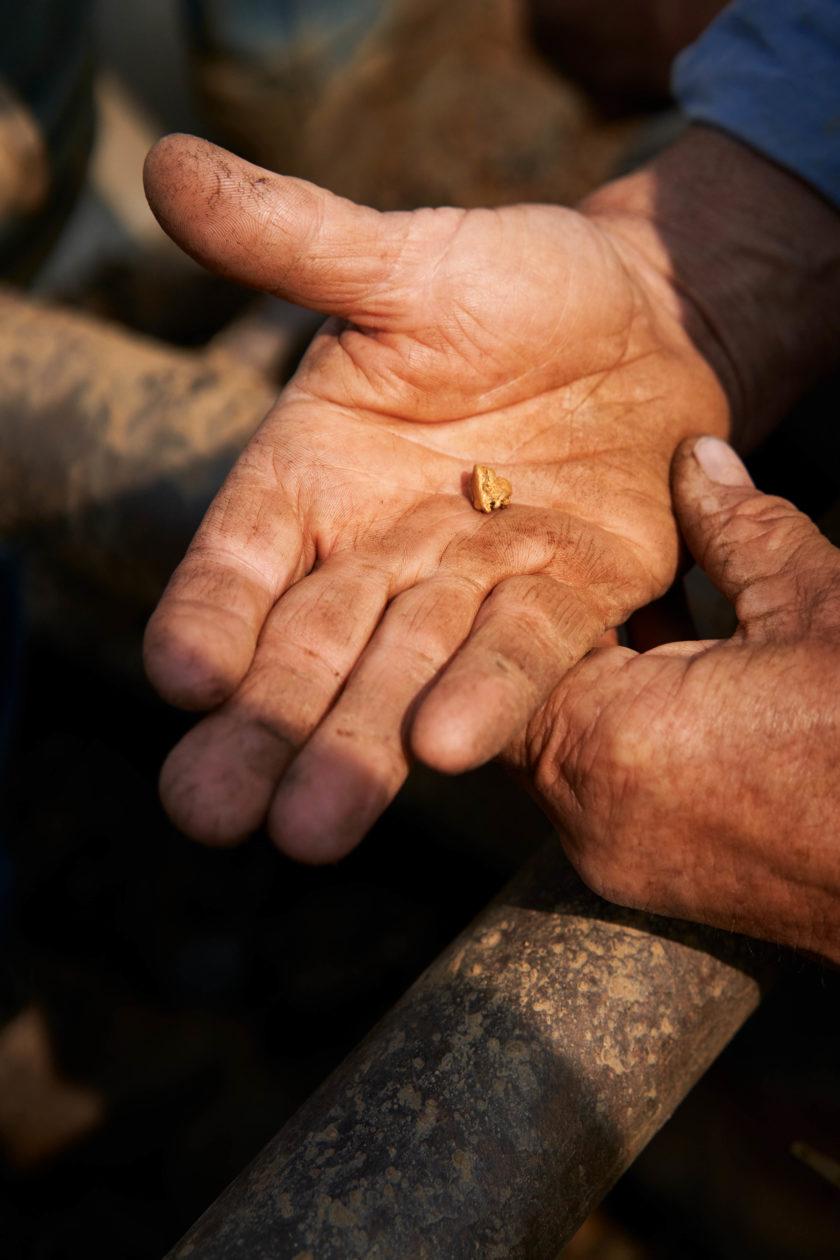 Nugget de ouro da Salmon Gold
