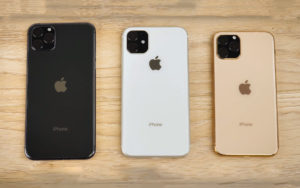 "Renders do ""iPhone 11"", ""iPhone 11 Pro"" e ""iPhone 11 Pro Max"""
