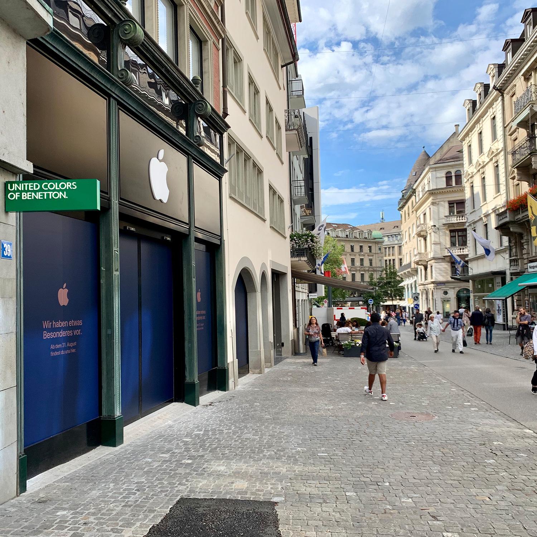 Nova loja da Apple em Zurique