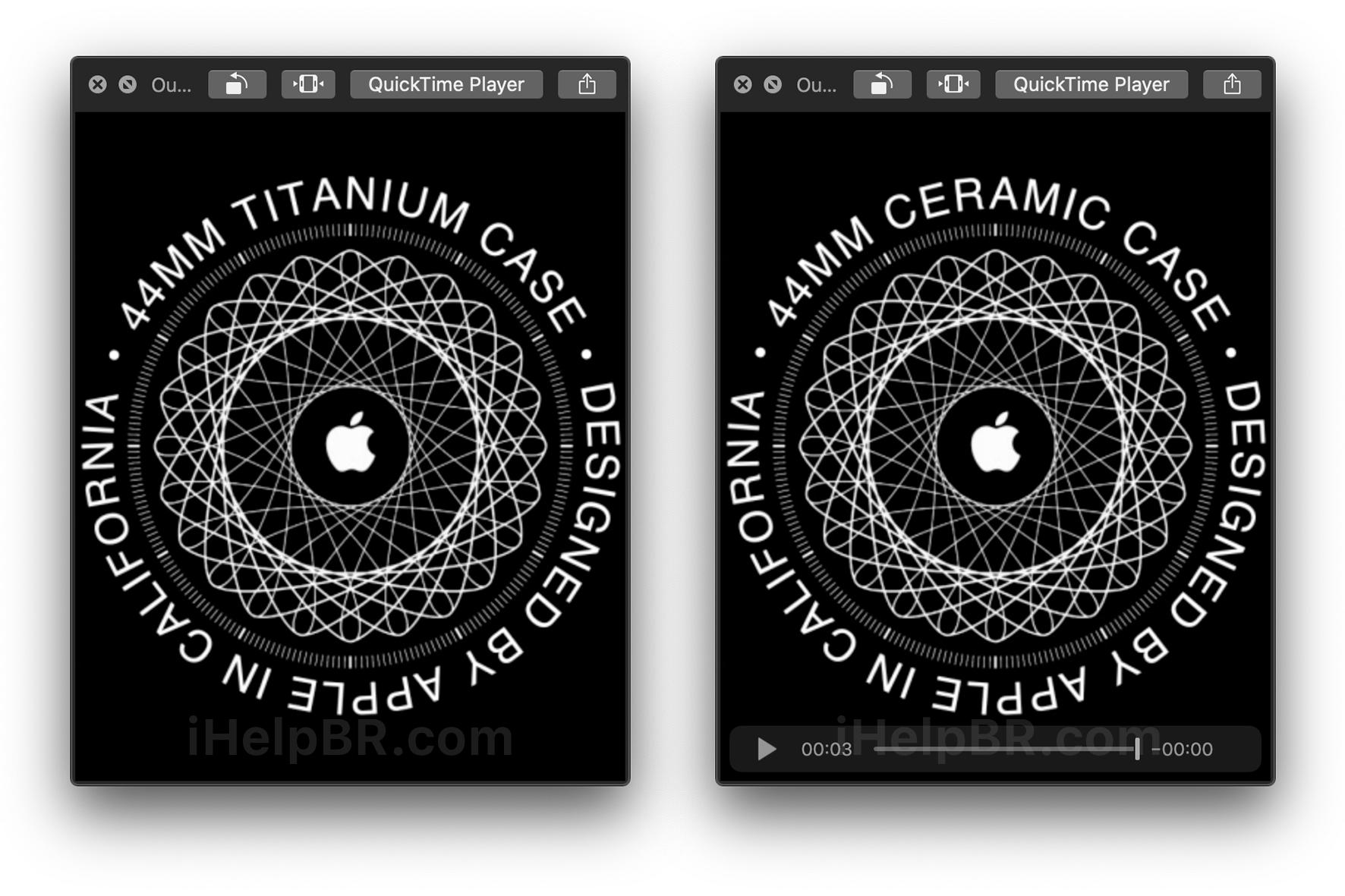 Apple Watch de titânio e de cerâmica