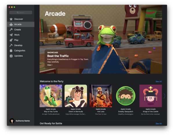 Apple Arcade na Mac App Store