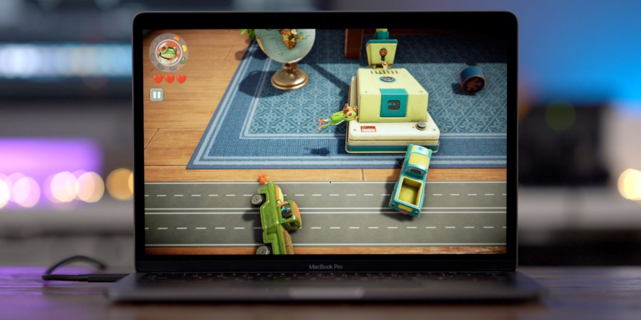 Frogger in Toy Town, do Apple Arcade