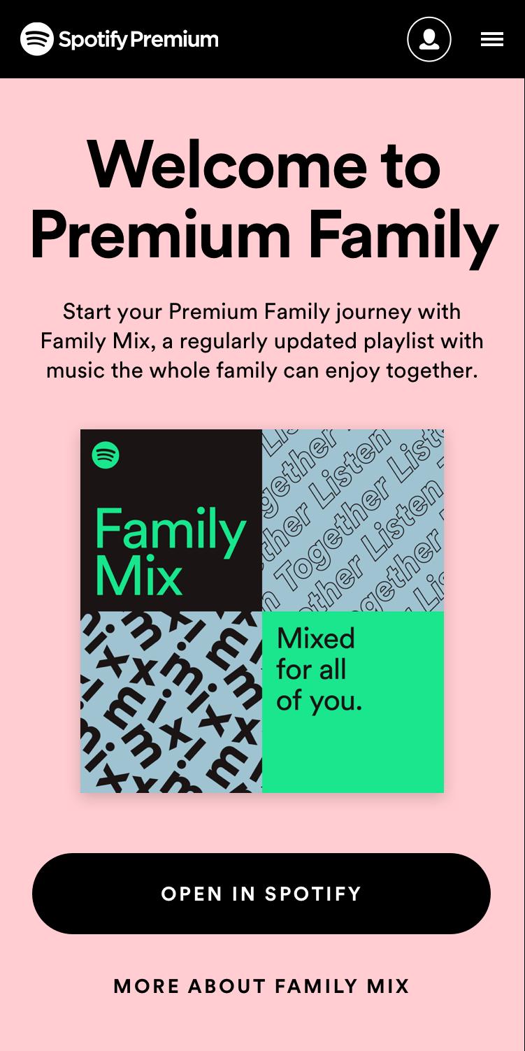 "Playlists ""Family Mix"" do Spotify"