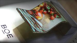 Tela OLED flexível produzida pela BOE
