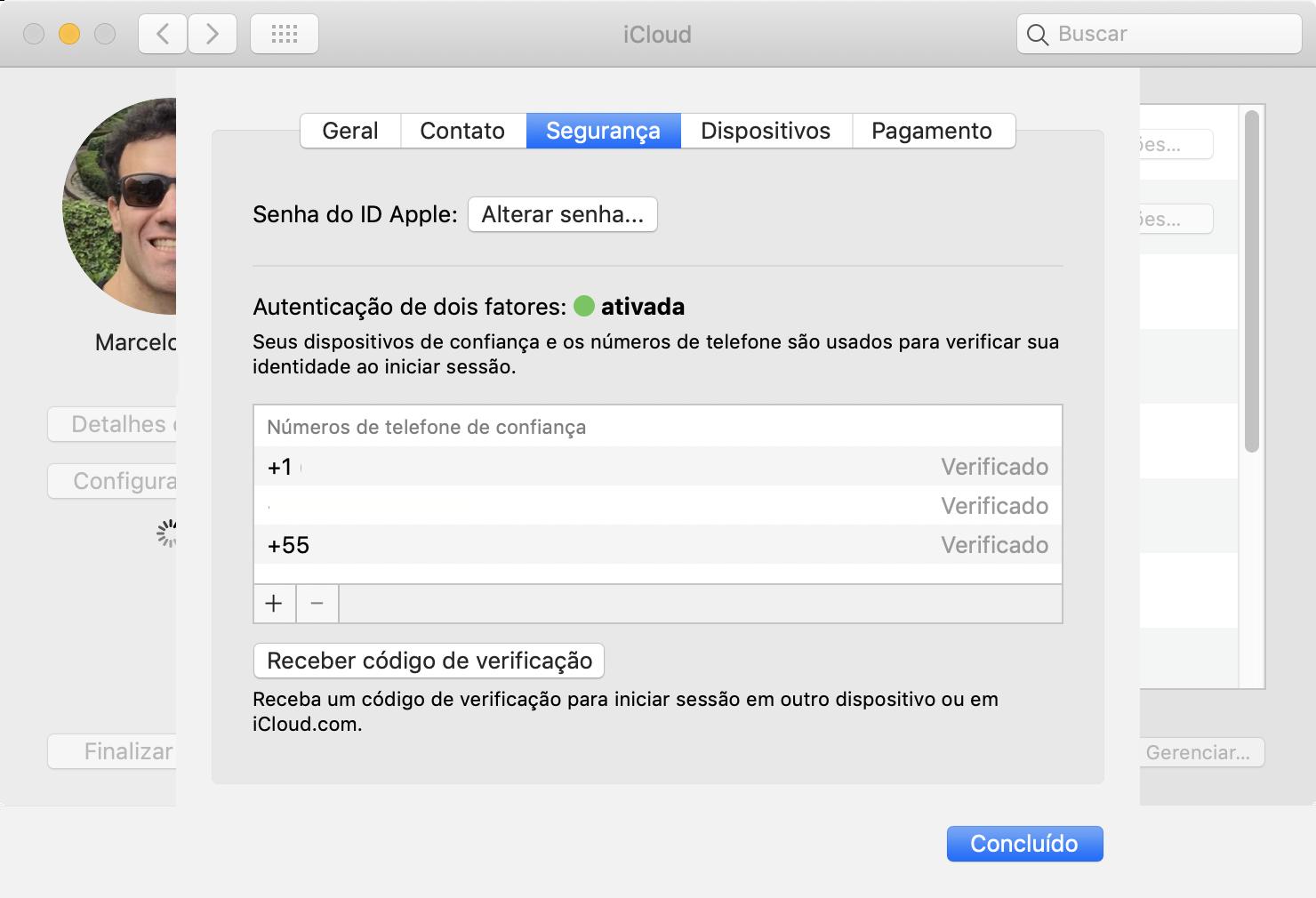 Receber Código de Verificação no macOS