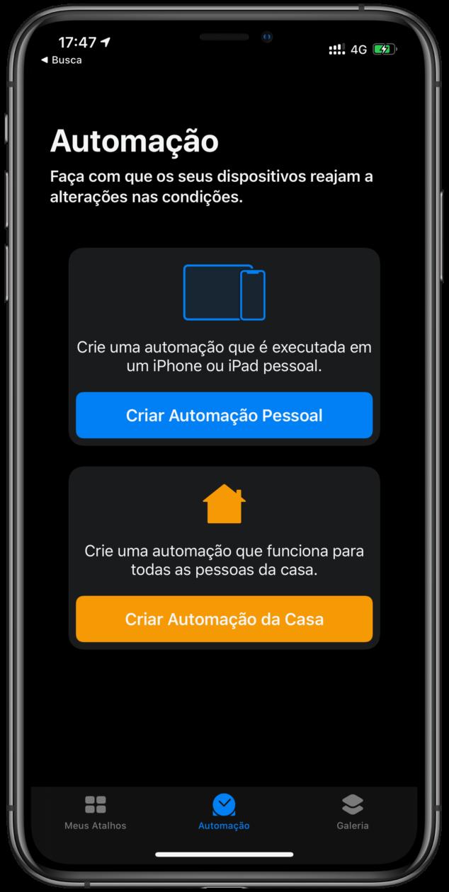 Automação no iOS 13.1
