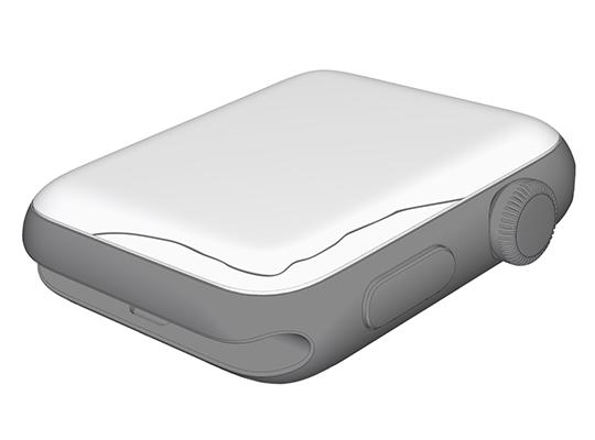Desenho de Apple Watch com a tela rachada