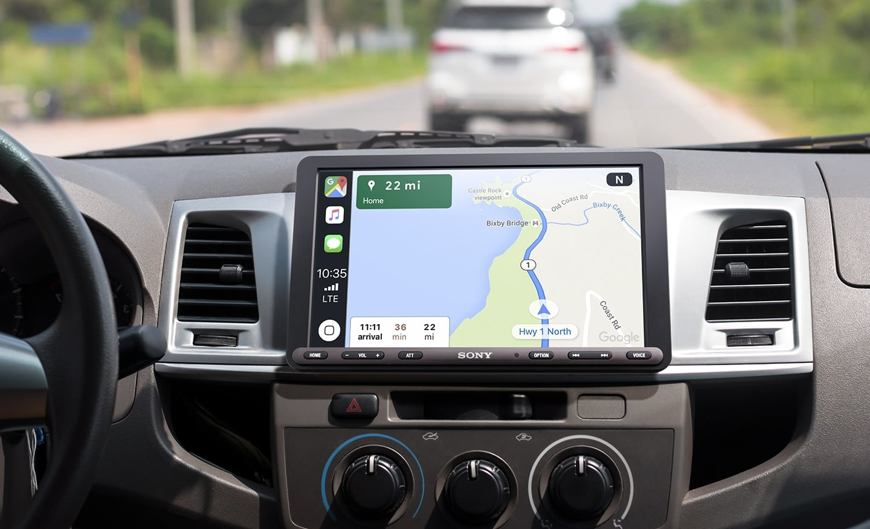 Receiver Sony XAV-AX8000, compatível com CarPlay