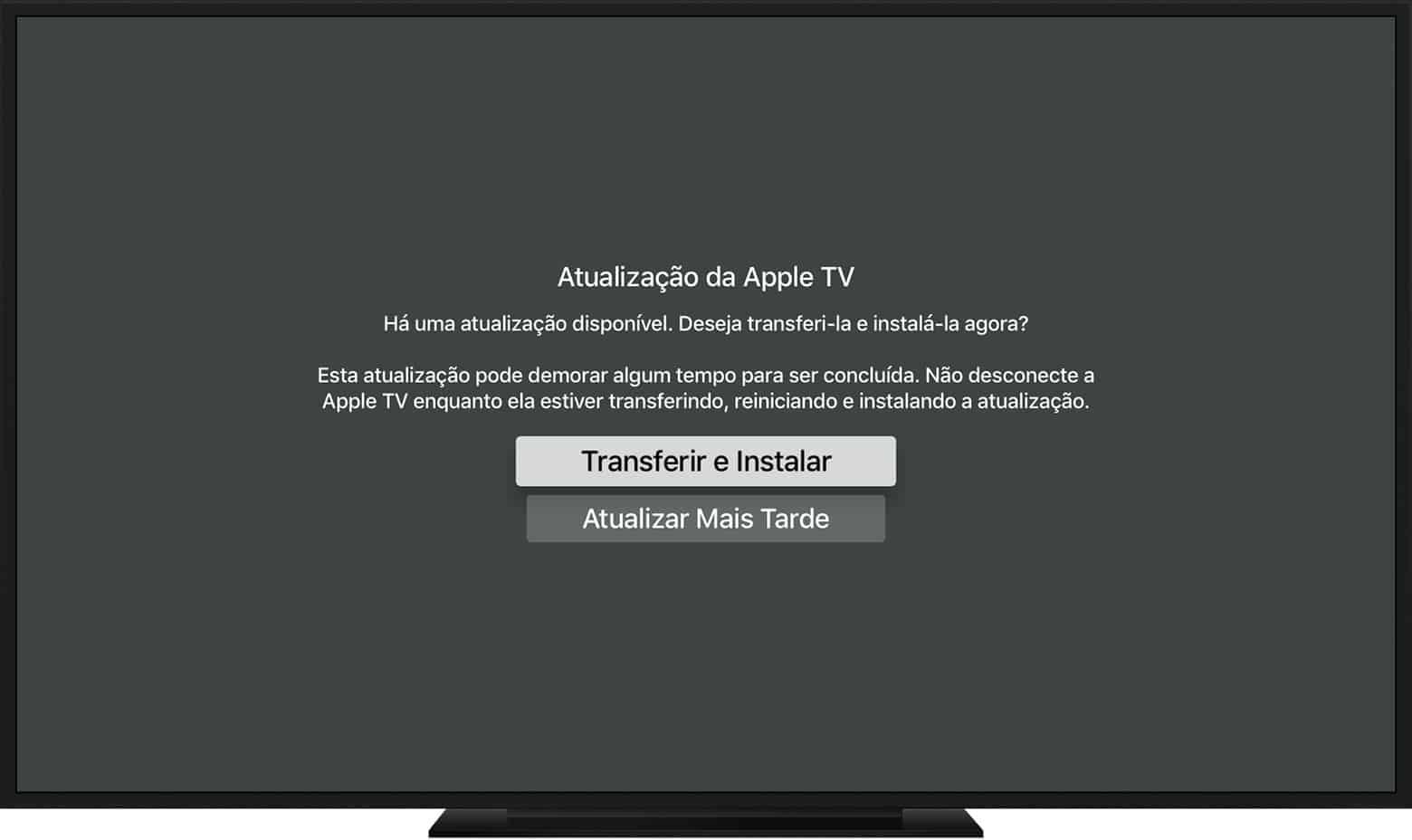 Atualizar Apple TV