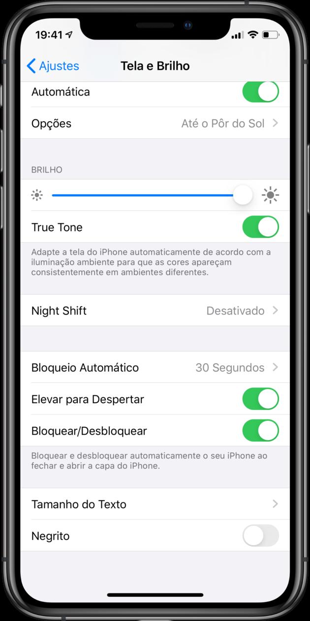 Ajuste para habilitar bloqueio e desbloqueio de capas carteira no iPhone