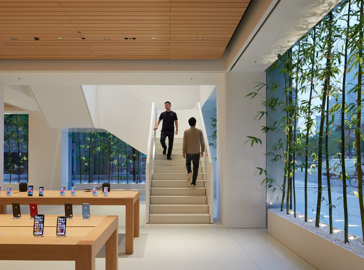 Interior da Apple Marunouchi