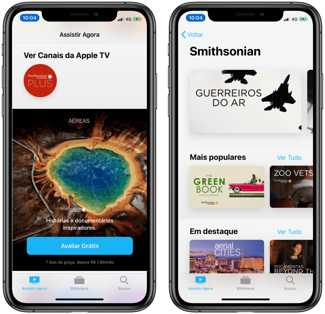 Canal Smithsonian Plus no Apple TV Channels