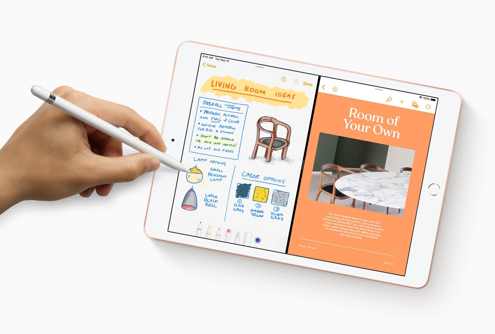iPad com Apple Pencil