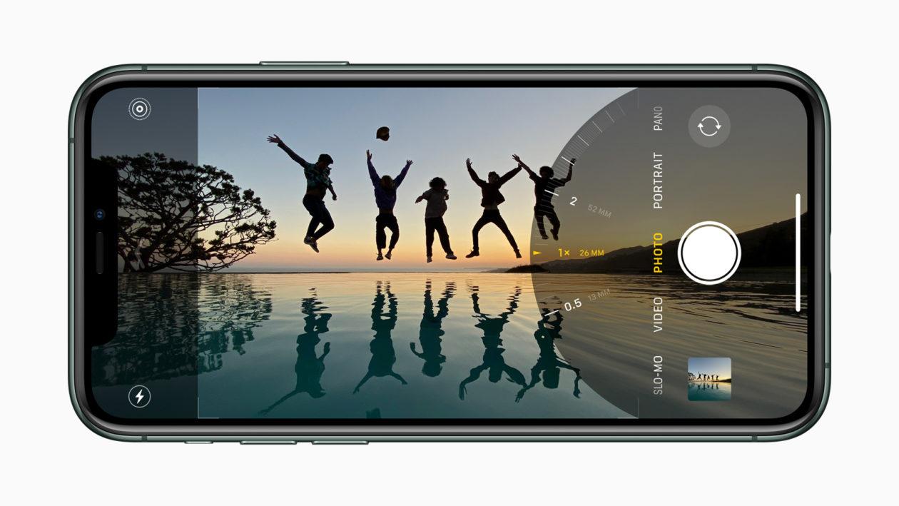 App Câmera no iPhone 11 Pro