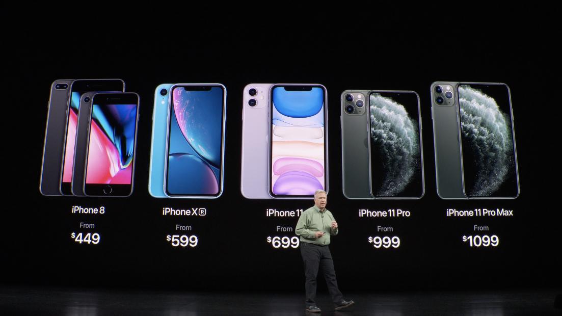 Preços da linha de iPhones de 2019