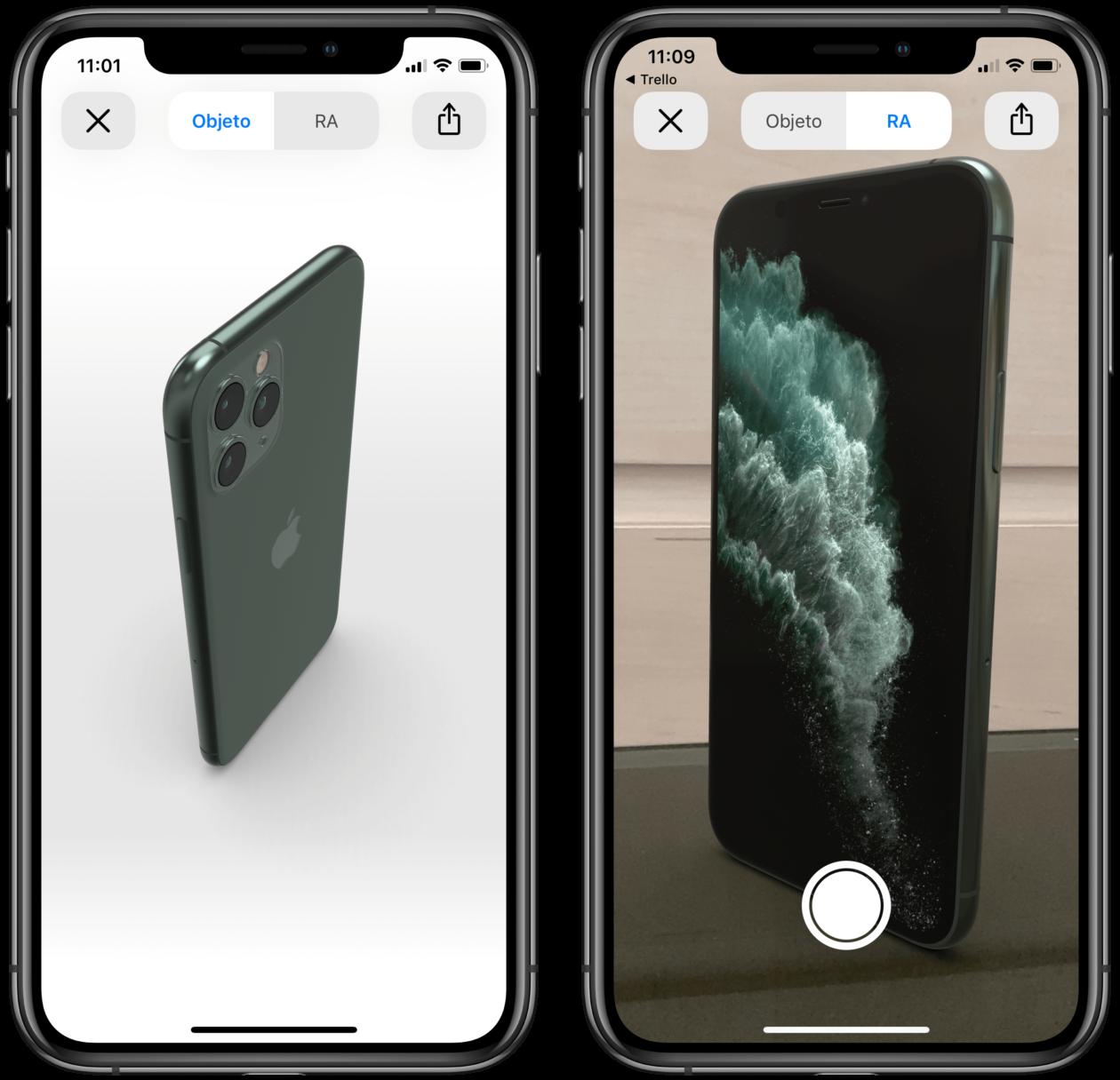 iPhone 11 Pro em AR