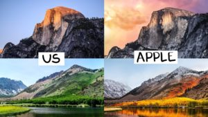 Wallpapers do macOS recriados