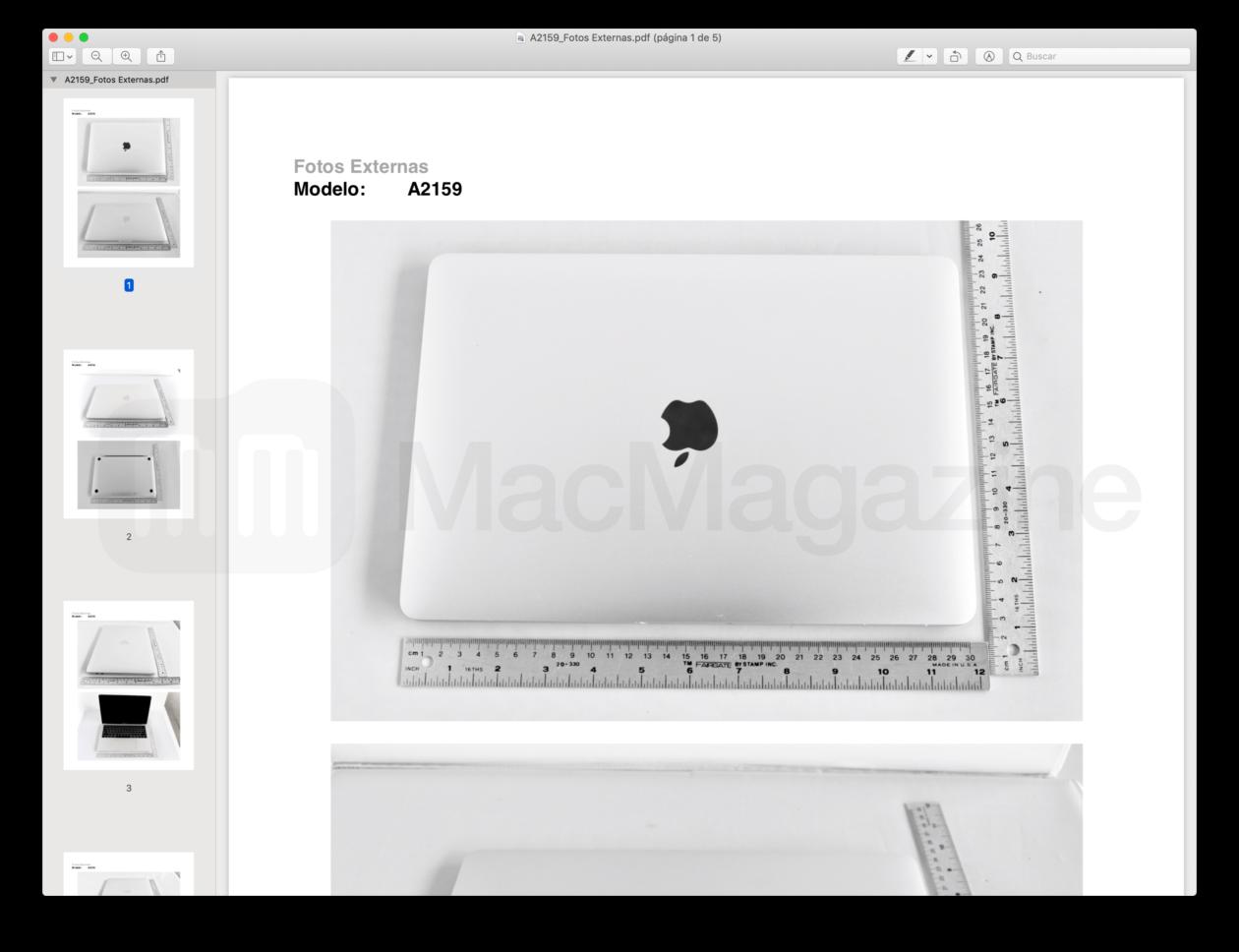 Homologação do novo MacBook Pro de 13 polegadas