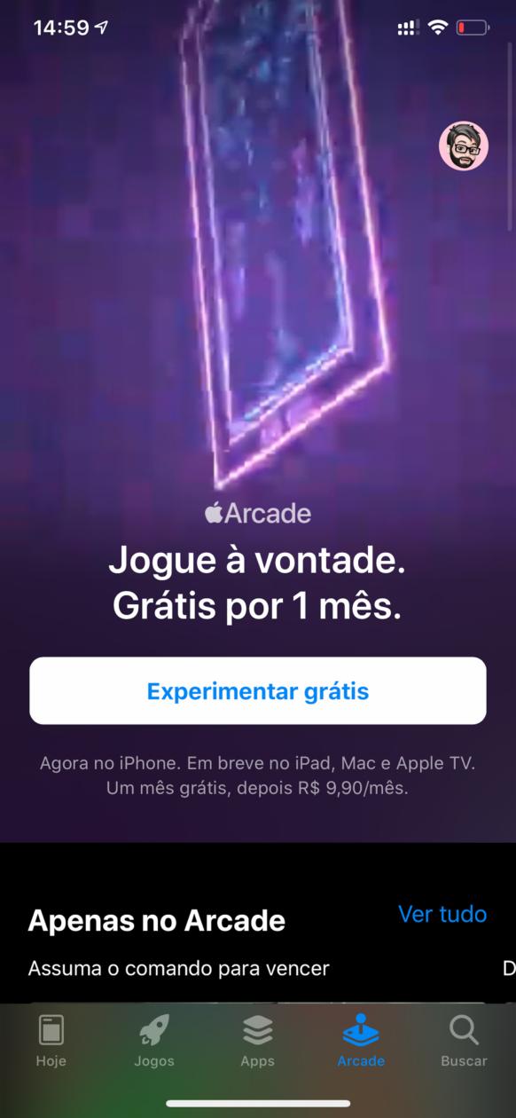 Apple Arcade em português no iOS 13