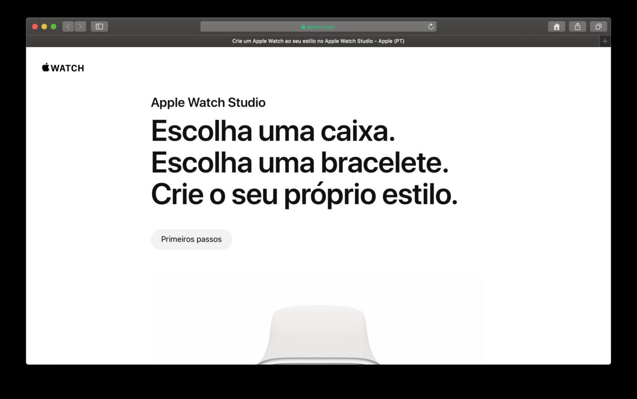 Site do Apple Watch Studio