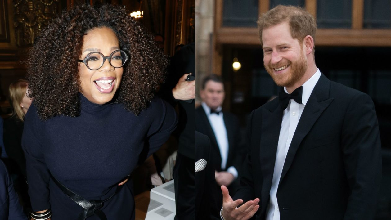 Príncipe Harry e Oprah Winfrey