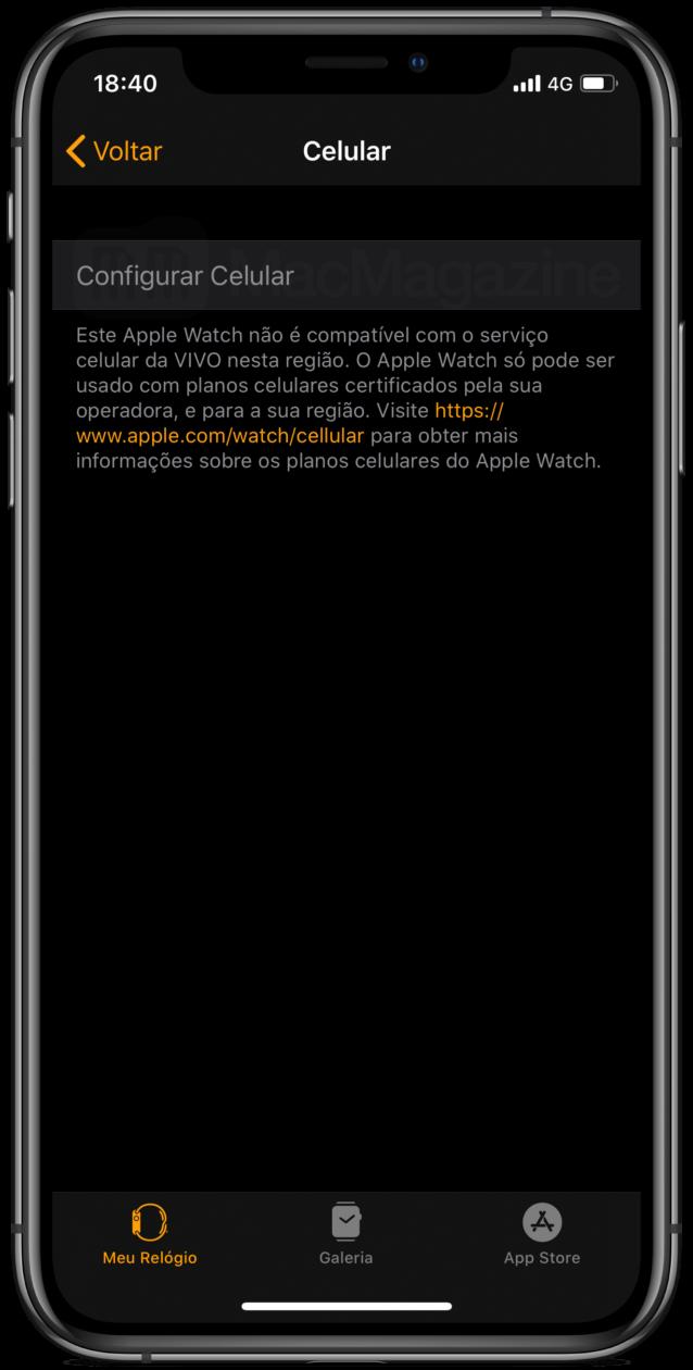 Apple Watch Series 5 americano limitado no Brasil