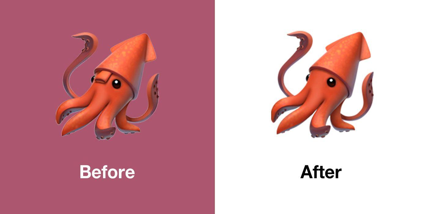 Novo emoji de lula no iOS 13.1