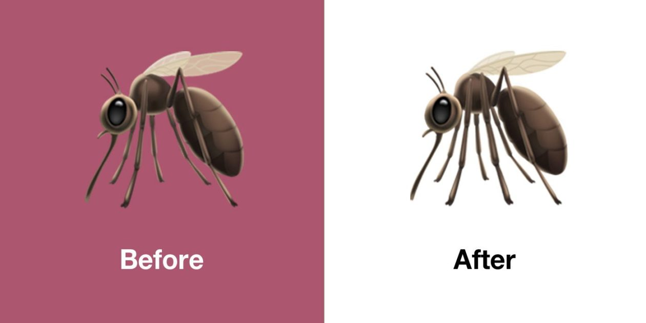 Novo emoji de mosquito no iOS 13.1