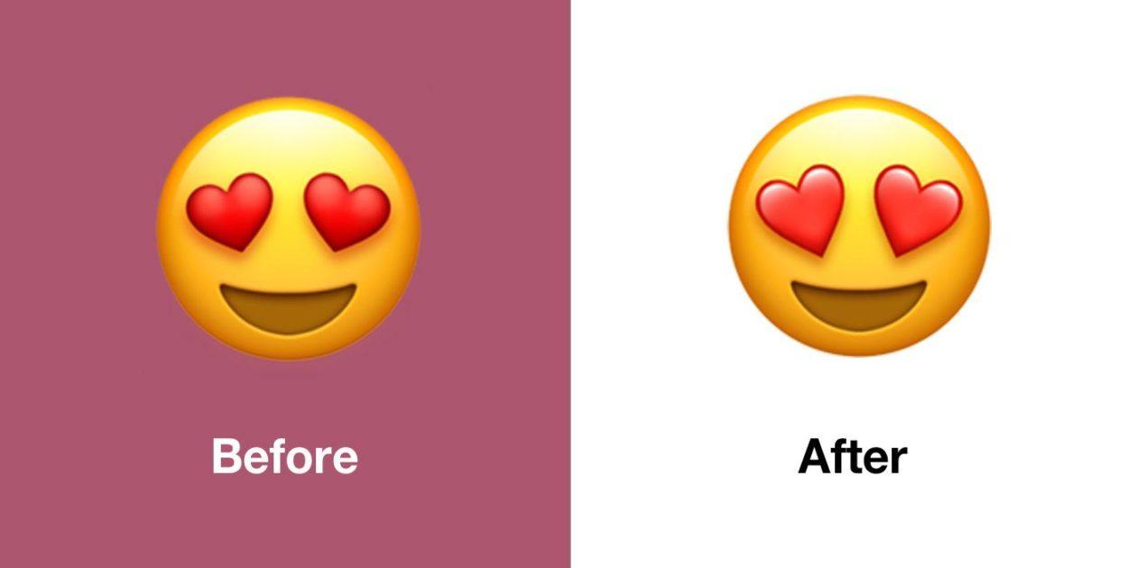Novo emoji de rosto com olhos de coração no iOS 13.1