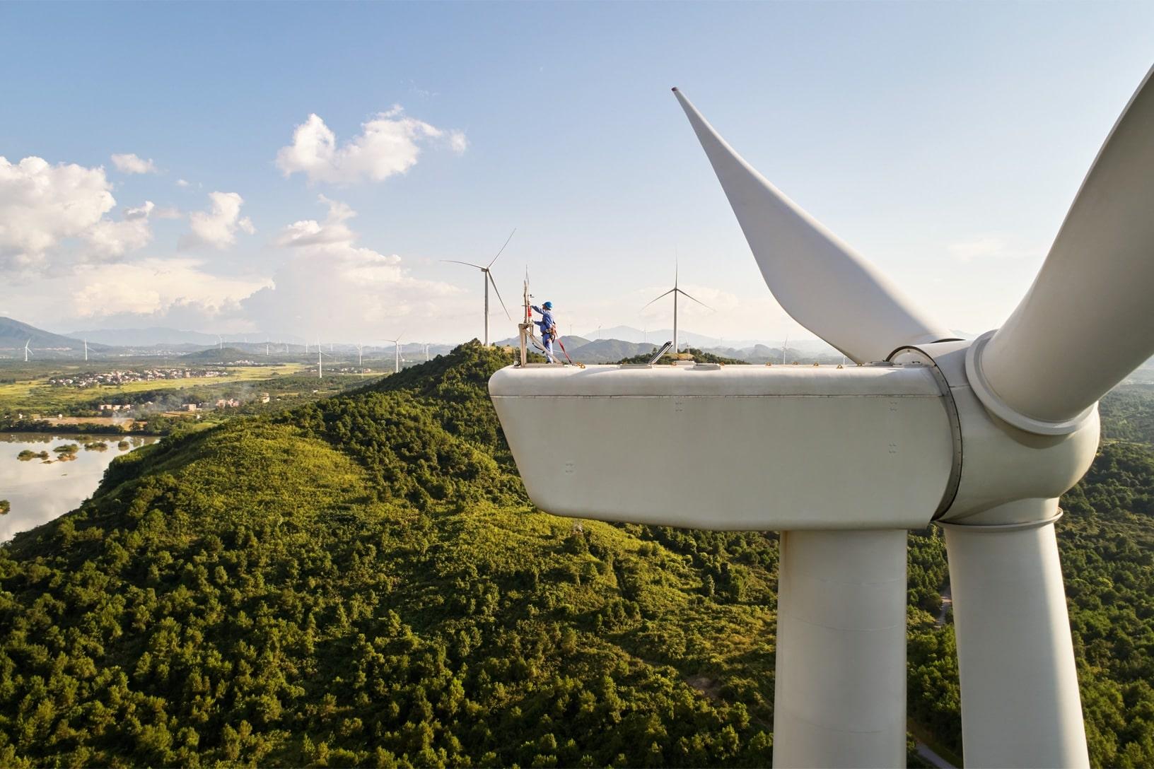 Parque eólico na China