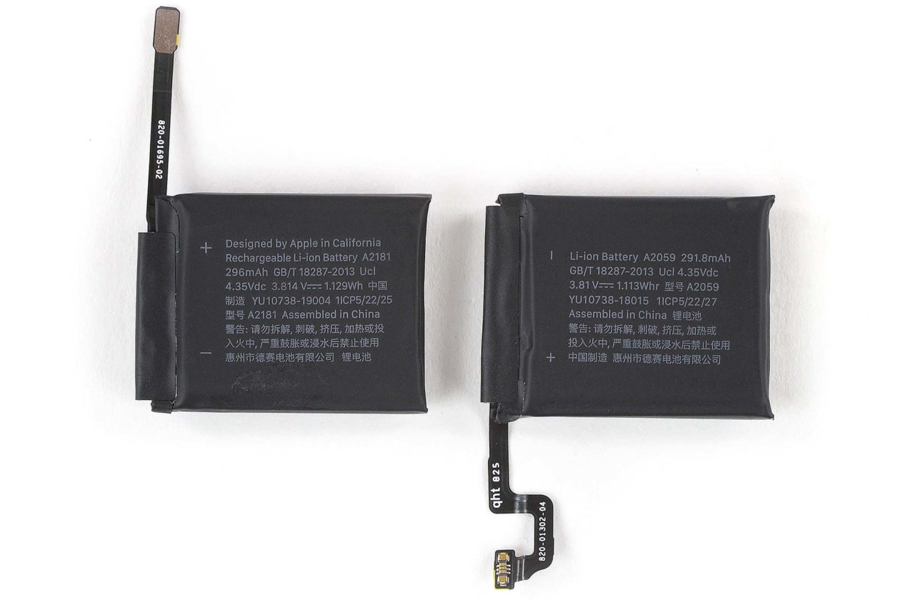 Bateria do Apple Watch Series 5 vs. Series 4