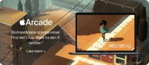 Página do macOS no site da Apple (seção do Apple Arcade) divulgando possível data de lançamento do macOS Catalina