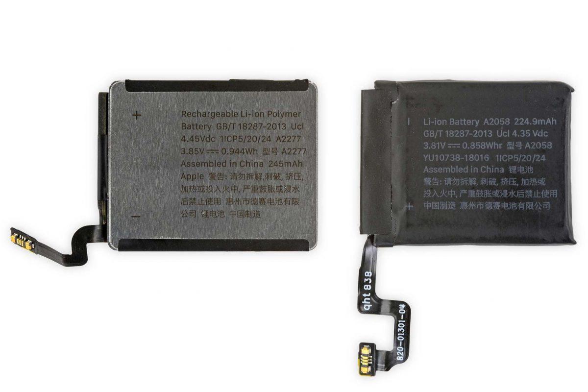 Bateria com carcaça de alumínio do Apple Watch Series 5 de 40mm