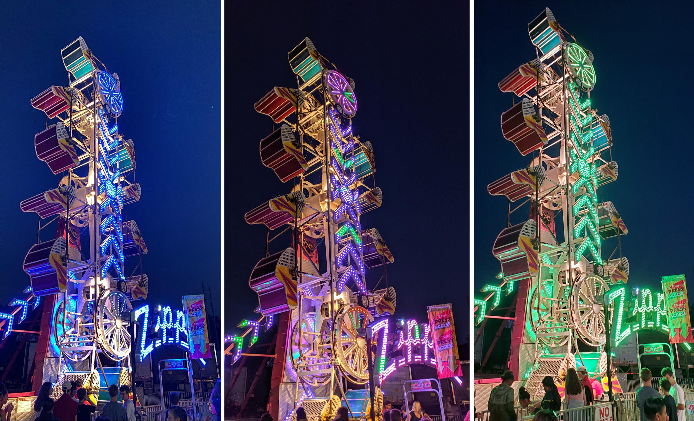 Comparação Modo Noite e Night Sight