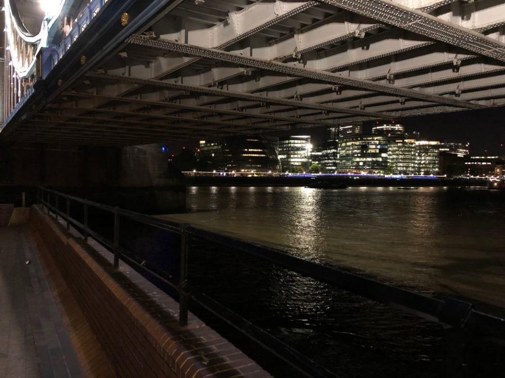 Foto de ponte tirada sem o Modo Noite