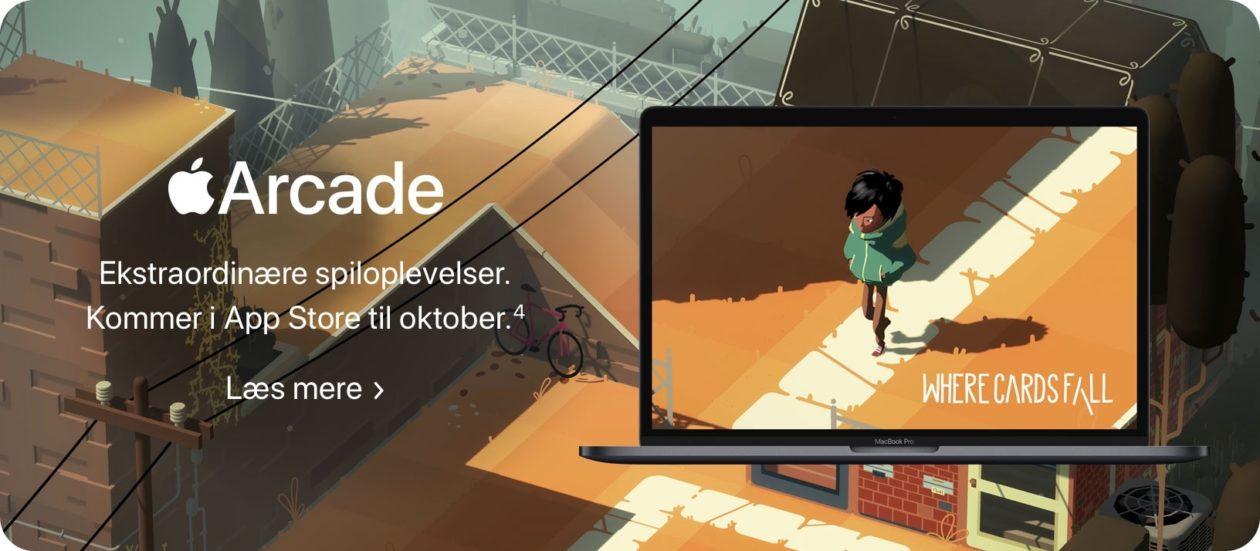 Página do macOS no site da Apple (seção do Apple Arcade) que divulgava a possível data de lançamento do macOS Catalina