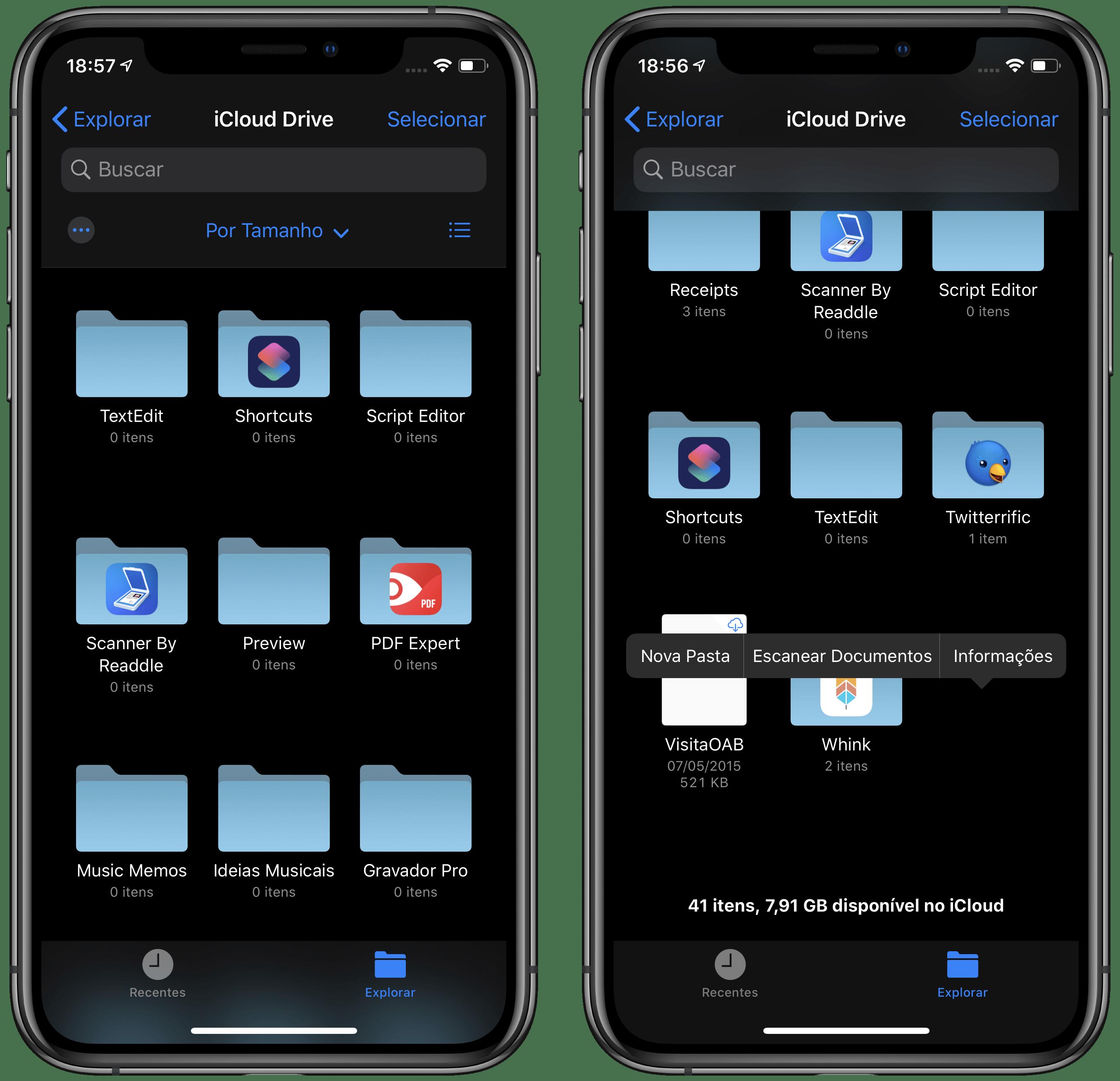 Como escanear documentos no app Arquivos
