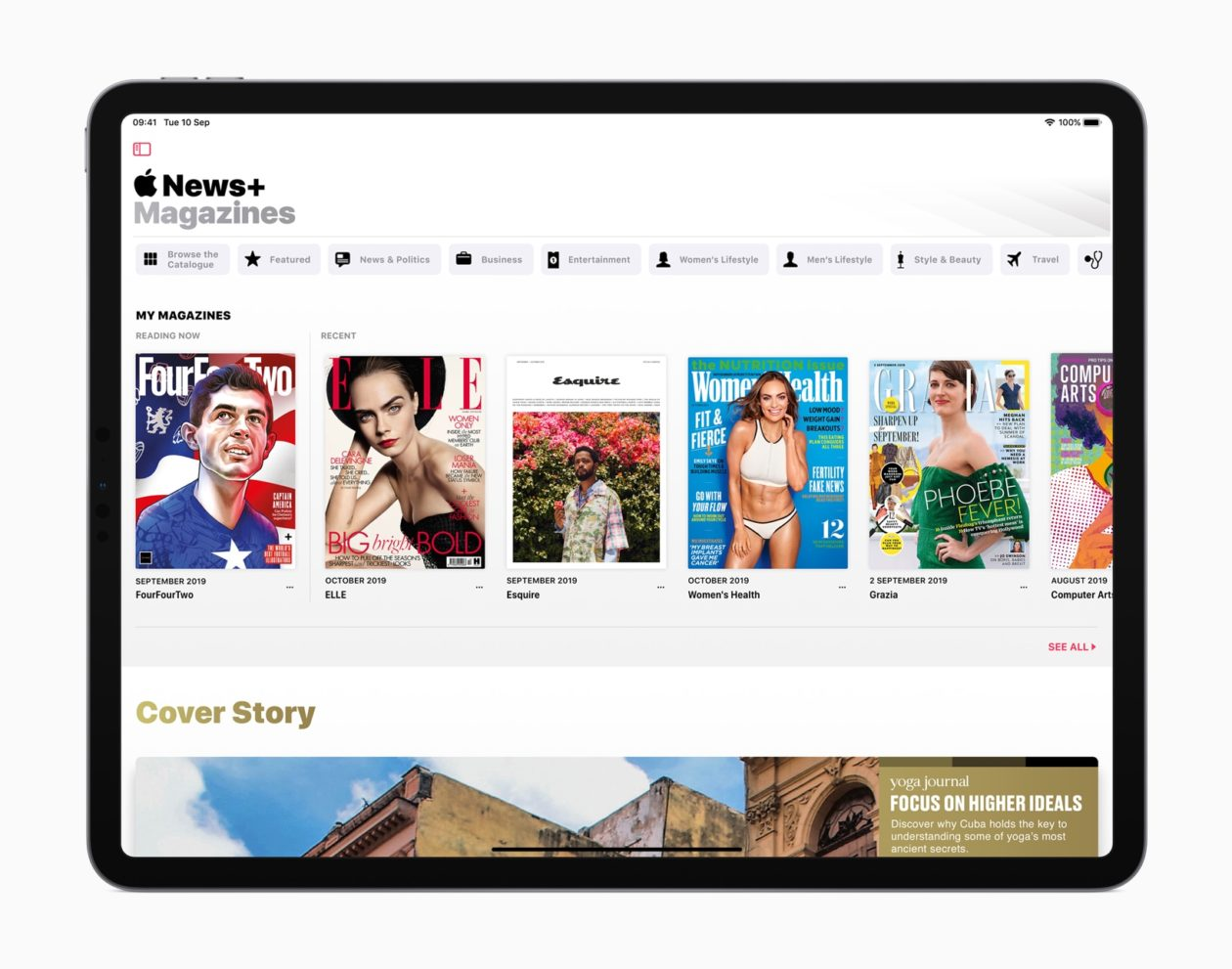 Apple News+ no Reino Unido